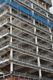 Metal frame building under construction. Multistorey metal frame of building under construction Royalty Free Stock Images
