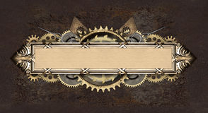 Metal frame and clockwork details Royalty Free Stock Photo