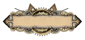 Metal frame and clockwork details Stock Photo