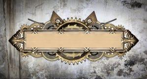 Metal frame and clockwork details Royalty Free Stock Images