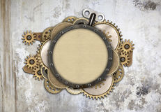 Metal frame and clockwork details Royalty Free Stock Photography