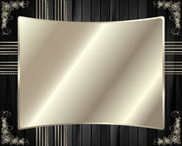 The metal frame on a dark wooden background 6 Stock Photos