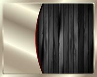 The metal frame on a dark wooden background 7 Stock Photo