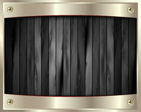 The metal frame on a dark wooden background 8 Royalty Free Stock Photos