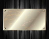The metal frame on a dark wooden background 9 Stock Photography