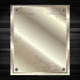 The metal frame on a dark wooden background 12 Royalty Free Stock Photo