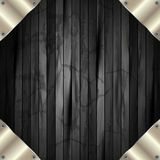 The metal frame on a dark wooden background 11. The metal frame on a dark wooden background for your design Royalty Free Stock Photos