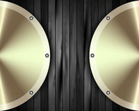 The metal frame on a dark wooden background 15 Royalty Free Stock Images
