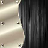 The metal frame on a dark wooden background 19. The metal frame on a dark wooden background for your design royalty free illustration