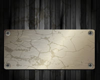 The metal frame on a dark wooden background 26. The metal frame on a dark wooden background for your design vector illustration