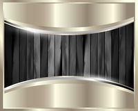 The metal frame on a dark wooden background 27 Royalty Free Stock Photo