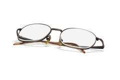 Metal frame eye glasses Stock Photo