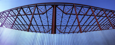 Metal frame of modern building Royalty Free Stock Photo