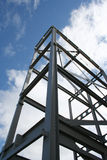 Metal frame of new building Royalty Free Stock Images