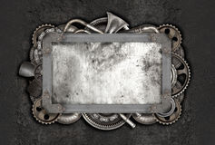 Metal frame and old auto spare parts car Royalty Free Stock Photography