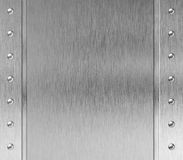 Metal frame with rivets background Stock Image