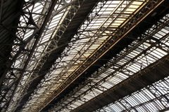 Metal frame roof Stock Photos