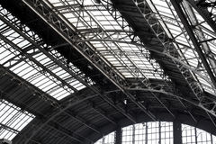 Metal frame roof Stock Photography