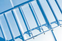 Metal frame shadows Royalty Free Stock Image