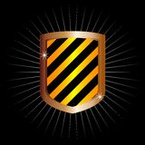Metal frame shield (vector) Royalty Free Stock Photography