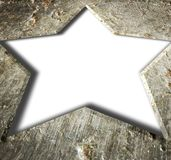Metal frame star. Royalty Free Stock Images