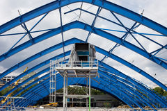 Metal Frame Structure on Contruction Site Stock Photography