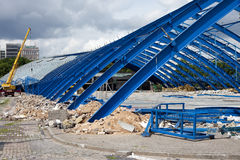 Metal Frame Structure on Contruction Site Royalty Free Stock Image