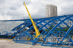 Metal Frame Structure on Decontruction Site Stock Photography