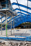 Metal Frame Structure on Decontruction Site Stock Photos