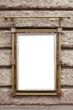 Metal frame on wall Stock Photography