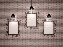 Metal frames and lights Royalty Free Stock Photos
