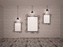 Metal frames and lights Stock Image
