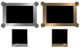 Metal frames Stock Photography