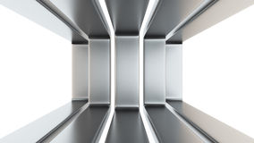 Metal frames on white Stock Photography