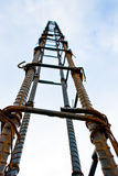 Metal framework for concrete pouring. Against the sky royalty free stock photography