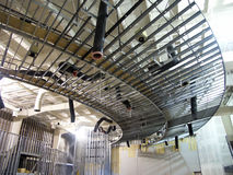 Metal Framing. Construction of interior of commercial building with metal framing stock photos