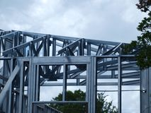Metal Framing Takes Hold In Construction Market. More and more of these metal framing jobs are beginning to show up as people adjust to their use and enjoy a Stock Photos