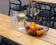 Metal fruit basket Royalty Free Stock Photo