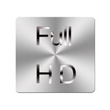 Metal Full HD button. royalty free stock images