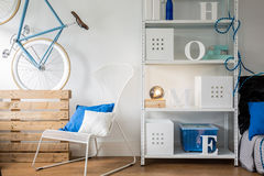 Metal furniture in room Royalty Free Stock Photography