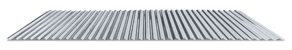 Metal galvanized corrugated sheet Stock Photo