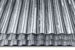 Metal galvanized sheet Royalty Free Stock Photos