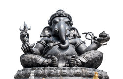 Metal Ganesha  isolated white background Stock Image