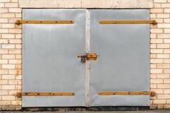 Metal garage door stock images