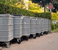 Metal garbage bins Royalty Free Stock Photo