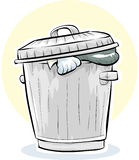 Metal Garbage Can. A cartoon, metal garbage can Royalty Free Stock Photography