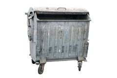 Metal garbage container Stock Photos