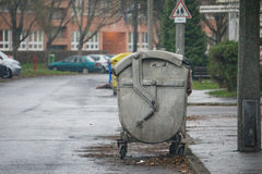 Metal garbage container Stock Photography