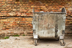 Metal garbage containers Stock Photos