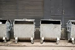 Metal garbage containers Royalty Free Stock Photos